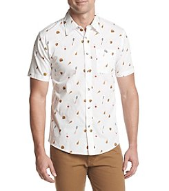 Ocean Current® Men's Printed Poplin Short Sleeve Button Down Shirt