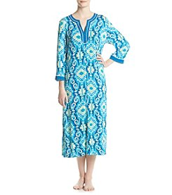 Jasmine Rose® Ikat Long Zip Caftan