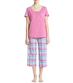 Intimate Essentials® Plaid Capri Pajama Set