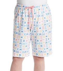 KN Karen Neuburger Plus Size Butterfly Bermuda Shorts