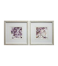 Lavender Spring Birds Framed Art Set of 2