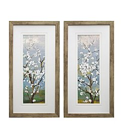 White in Bloom Framed Art Set of 2