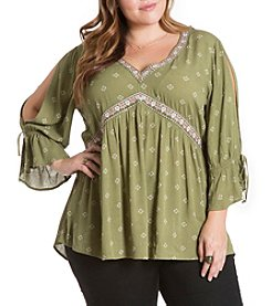 Eyeshadow® Plus Size Embroidered Top
