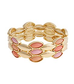 Erica Lyons® Flowers Kitsch Multi Stretch Bracelet