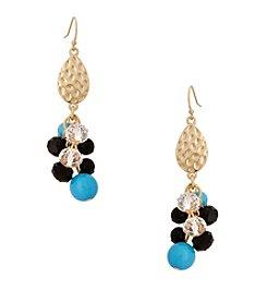 Erica Lyons® This Way Drop Cluster Pierced Earrings