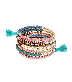 Erica Lyons® Cool Beaded Coil Bracelet