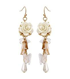 Erica Lyons® Flowers Kitsch Cluster Drop Pierced Earrings