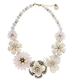 Erica Lyons® Flowers Kitsch Bib Necklace