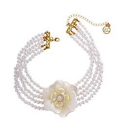 Erica Lyons® Flowers Kitsch Choker Necklace