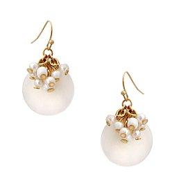 Erica Lyons® Flowers Kitsch Disk Drop Pierced Earrings