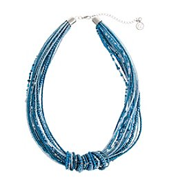 Erica Lyons® Seed Bead Multi Seed Bead Collar Necklace