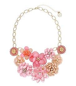 Erica Lyons® Flowers Kitsch Multi Bib Of  Flower Necklace
