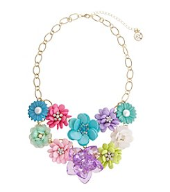 Erica Lyons® Flowers Kitsch Multi Bib Of  Flower Necklace
