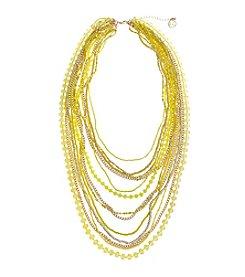 Erica Lyons® Lemon Poppy Multi Row Short Necklace