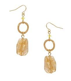Erica Lyons® Lemon Poppy Double Drop Pierced Earrings