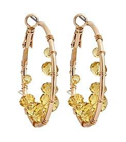 Erica Lyons® Lemon Poppy Hoop Pierced Earrings