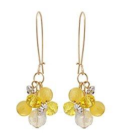 Erica Lyons® Lemon Poppy Drop Cluster Pierced Earrings