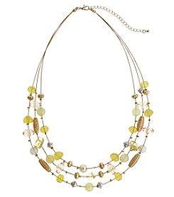 Erica Lyons® Lemon Poppy Short Illusion Necklace
