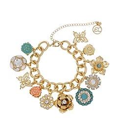 Erica Lyons® Flower Kitsch Multi Charm Bracelet