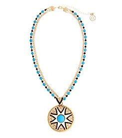 Erica Lyons® This Way Short Pendant Necklace