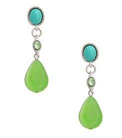 Erica Lyons® Lime A Rita Drop Pierced Earrings