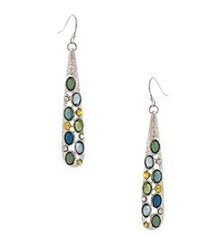 Erica Lyons® Lime A Rita Linear Pierced Earrings