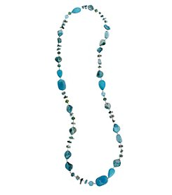Erica Lyons® Seed Bead Multi Long Strand Necklace