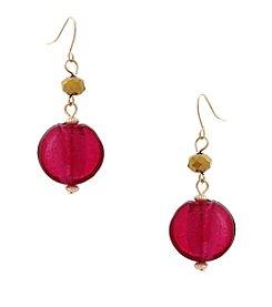 Erica Lyons® Seed Bead Multi Double Drop Pierced Earrings