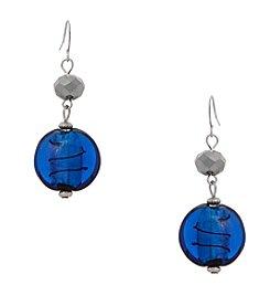 Erica Lyons® Double Drop Artisan Bead Earrings
