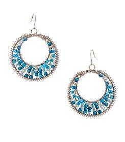 Erica Lyons® Seed Bead Multi Hoop Drop Earrings