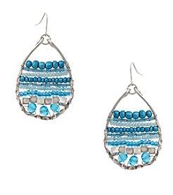 Erica Lyons® Seed Bead Multi Teardrop Pierced Earrings