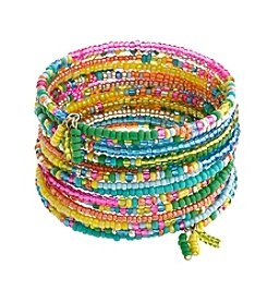 Erica Lyons® Seed Bead Multi  Coil Bracelet