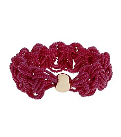 Erica Lyons® Seed Bead Multi Braided Stretch Bracelet