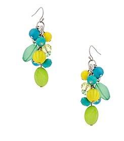 Erica Lyons® Lime A Rita Drop Cluster Pierced Earrings