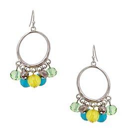 Erica Lyons® Lime A Rita Shaky Hoop Pierced Earrings