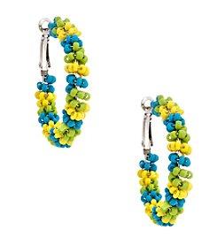 Erica Lyons® Lime A Rita Hoop Pierced Earrings