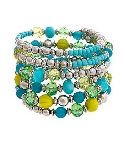 Erica Lyons® Lime A Rita Beaded Coil Bracelet