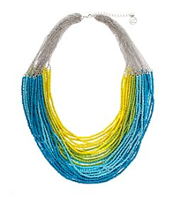 Erica Lyons® Lime A Rita Multi Strand Seed Bead Statement Necklace