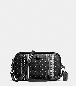 COACH CROSSBODY CLUTCH IN SKULL BANDANA PRINT COATED CANVAS