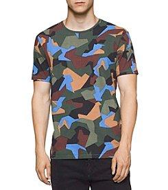 Calvin Klein Men's Short Sleeve Camo Crew Tee