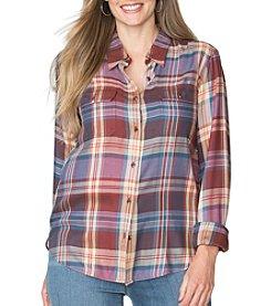 Chaps® Plus Size Plaid Twill Workshirt
