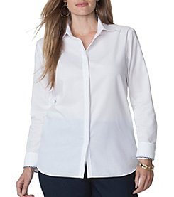 Chaps® Plus Size No-Iron Broadcloth Shirt