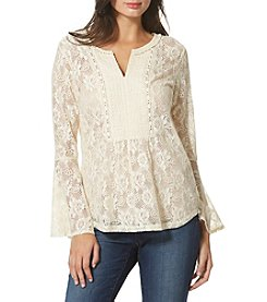 Vintage America Blues™ Bell-Sleeve Lace Top