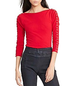 Lauren Ralph Lauren® Lace-Up Boatneck Top