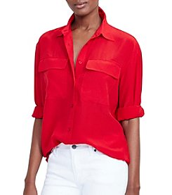 Lauren Ralph Lauren® Silk Crepe Workshirt