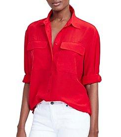 Lauren Ralph Lauren® Silk Crepe Workshirt