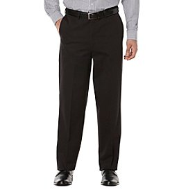Savane Men's Big & Tall Ultimate Performance Chino Flat Front Pants