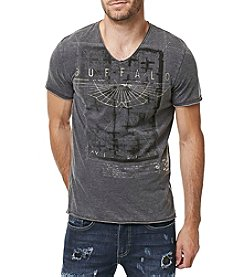 Buffalo by David Bitton Men's Short Sleeve Taburn V-Neck Tee