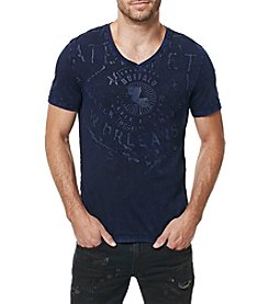 Buffalo by David Bitton Men's Short Sleeve Taval V-Neck Tee