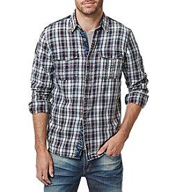 Buffalo by David Bitton Men's Long Sleeve Twill Woven Shirt